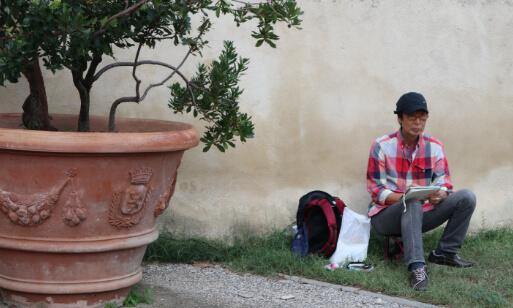 イタリアスケッチ旅行の様子1